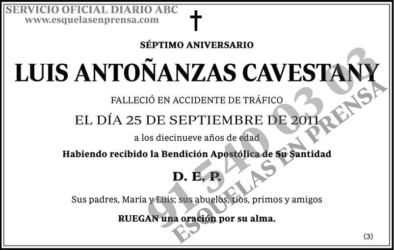 Luis Antoñazas Cavestany